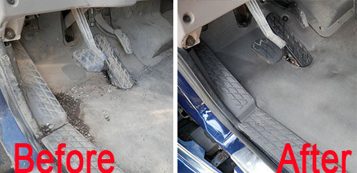 Before and After Truck matts
